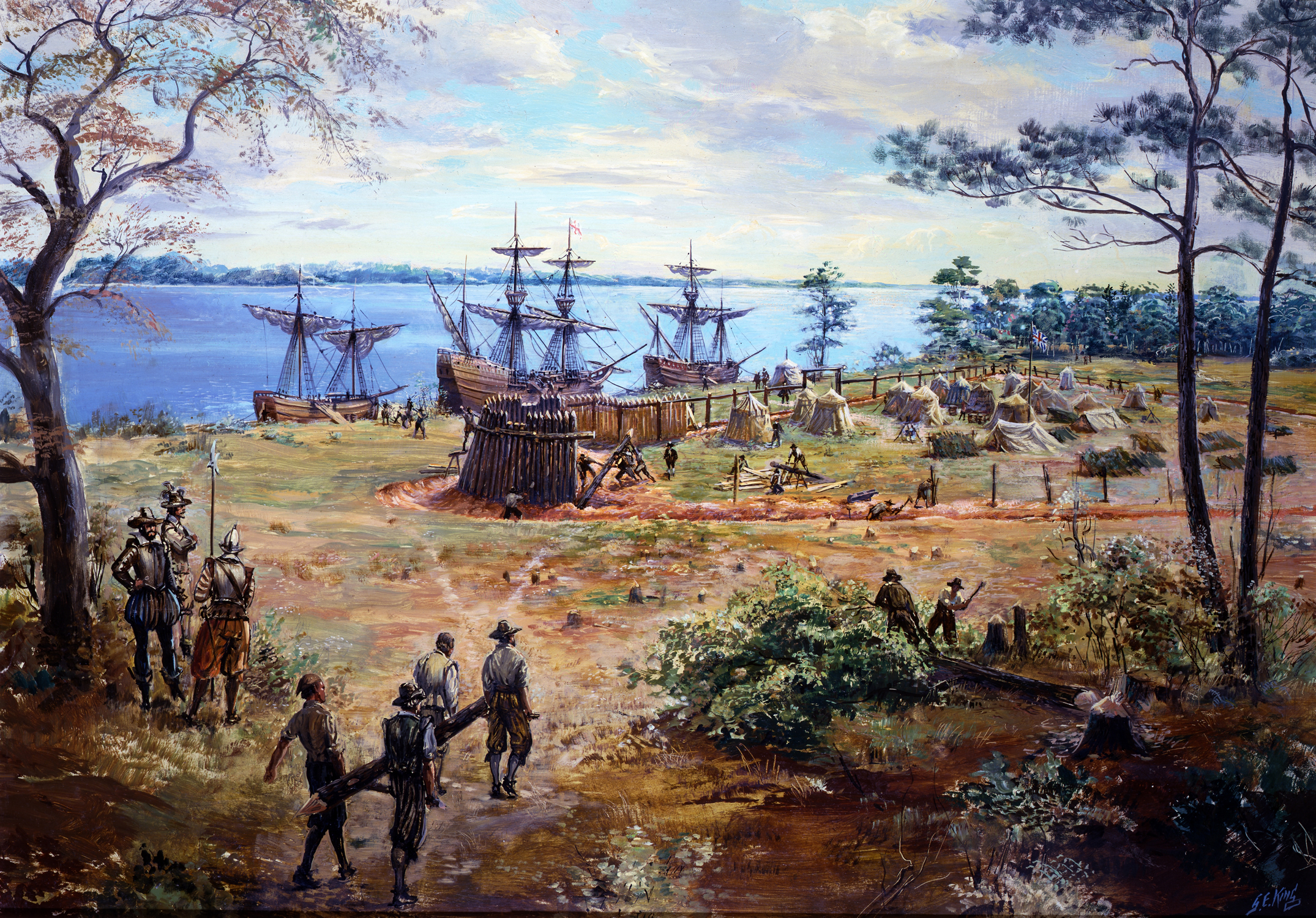 the first settlers to america in the early 1600s The majority went to south america and the caribbean in the mid-1600s,  the first generations in america  declared them free and set up the first free, all black settlement, fort mose.