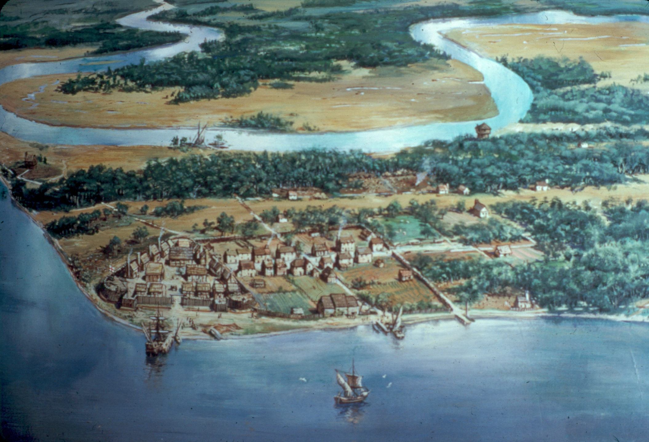 the colonial settlement in virginia Jamestown, founded in 1607, was the first successful permanent english settlement in what would become the united states the settlement thrived for nearly 100 years as the capital of the virginia colony it was abandoned after the capital moved to williamsburg in 1699 a preservationist group took over.